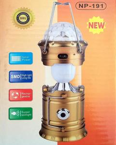 camping lamp with disco color rotating light