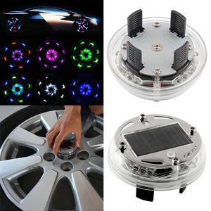 4 Mode 12 LED Fashion Car Solar Power Flash Multi  Wheel Light Decoration