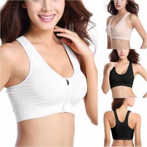 Material:Nylon     Quick Dry     Closure Type: Front Zip     Women Sports Bra     Fitness Yoga Sports Bra     Running / Gym / Sport     Flexible, Breathable, Sports     Wire Free     Full Cup