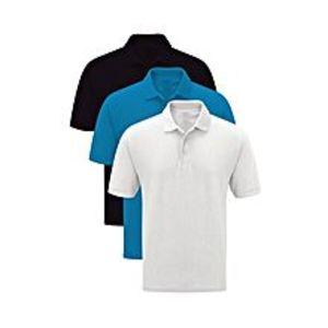 Al Buraq3 PACK cottn & Polyester Multicolor Plain Polo Shirt