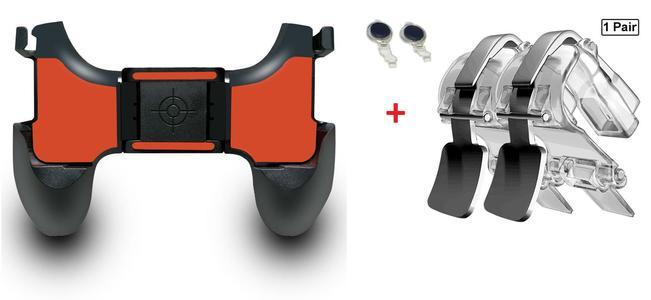 All in one PUBG Controller l1 r1 + Grip + Joystick Mobile For PUBG Trigger Adjustable,Portable