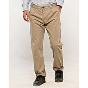 Denizen Brown Cotton Skinny Fit Chino for Men