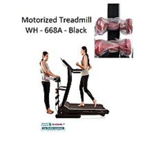 CyberTeleMotorized Treadmill - WH 668A 3.0 HP - Black