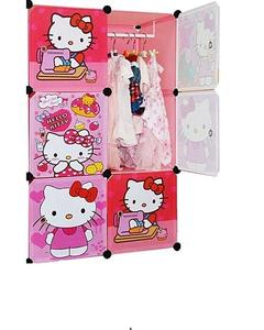 Plastic Hanging & Storage Cabinet & Wardrobe-Hello Kitty