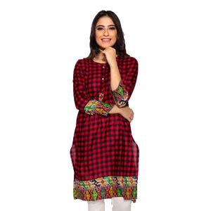 Dija's Women Winter Collection Multi Stitched 1 PCS Digital Printed Kurti - Kurti-D-015