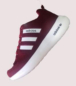 Adidas Stylish Shoes Dark Red  50% Discount