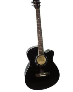 "40"" Semi Acoustic Guitar with Built in Tuner & 5 Band Equalizer - Black"