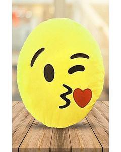Emoji Emoticon Yellow Round Cushion Stuffed Pillow Plush Soft Toys Decor FB-0069