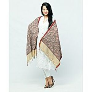 Misbah's Style Brown & Maroon Pashmina Shawl for Women