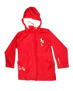 Stylish Red Printed Zipper Hoodie Jacket for Girl