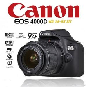 Canon 4000D DSLR with 18-55MM Lens and One Bag