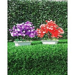 NS Collection Pack of 2 Purple + Red Artificial Tree