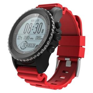 S968 IP68 Waterproof Smart Watch Bracelet w/ GPS, Pressure Altitude Temperature Movement Mode, Heart Rate Monitior - Red