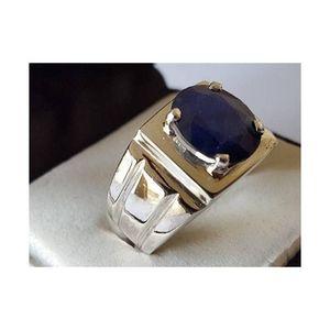 Natural Blue Sapphire Neelam Hand made Ring For Men