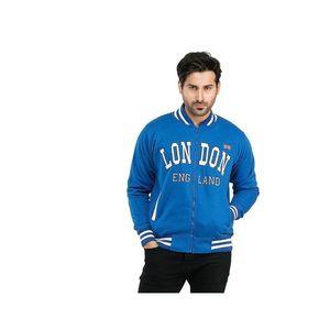 Super Shopping Mens Blue Varsity Jacket