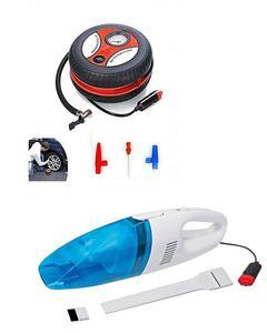 Pack of 2 - Car Air Compressor Pump - 12V & Car Vacuum Cleaner