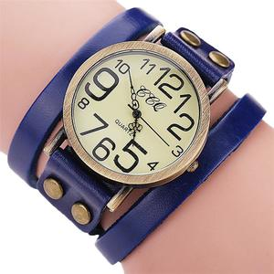 CCQ Brand Vintage Cow Leather Bracelet Watch Men Women Wristwatch Quartz BU