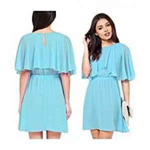 Charji ShopSky Blue - Chiffon Dress For Women