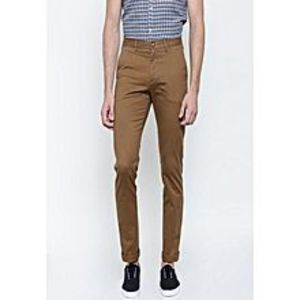 Shop All Online Brown Cotton Chino Twill Pants