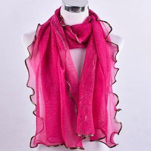 Women Fashion Long Solid Mesh Soft Wrap Scarf Ladies Shawl Scarves