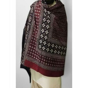 Multicolor Cotton Block Printed Sindhi Ajrak - Sa-28-4