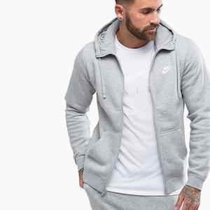 Zipper hoodie sweatshirt zipper street wear hoodies sweatshirts fleece Jacket coat fashion oversize tracksuit Grey