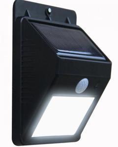 Solar Sensor Motion Activated LED Light - Black