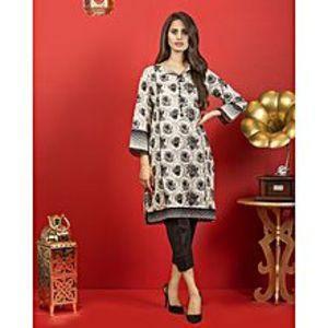 Bonanza SatrangiBlack Rose-Black Lawn Unstitched 1 Piece Suit for Women - Ecx18Sp-002