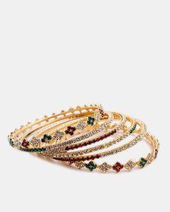 Jewellery Hut Gold Plated Zirconia Bangles