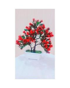 Red Bonsai Tree Decoration Piece