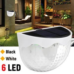 6 LED Solar Power Light Garden Security Yard Path Patio Wall Lamp Waterproof