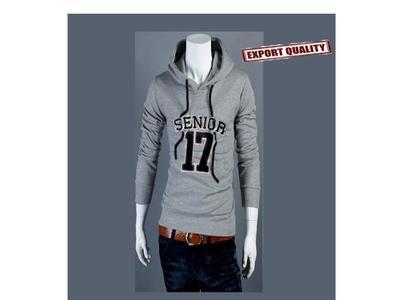 fleece Hoodie for Men-Grey