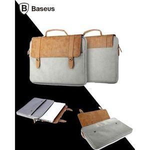 British Series Multipurpose Tablet, iPad, Laptop Bag - Brown & Grey