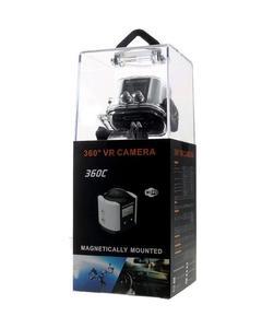 360 Degree Panoramic VR Camera 4K Full HD WiFi Waterproof Sports Camera – Black / White