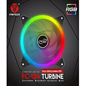FanTechFC-124 120mm RGB Ring Colorful LED Computer Case Cooling Fan