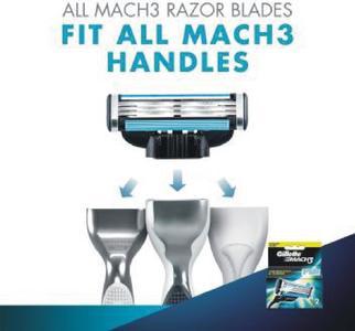 GilletteMach 3 Shaving Razor Cartridges  (Pack of 2)