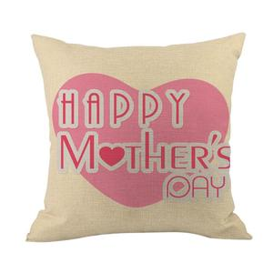 Happy Mothers' Day Sofa Bed Home Decoration Festival Pillow Case Cushion Cover