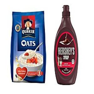 QuakerPack Of 2- Oats 400G & Hersheys Chocolate Syrup 680G