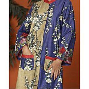 AlmirahBlue Lawn Stitched Kurti For Women AL-LK-564/ALP-336A