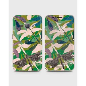 Samsung Galaxy J1 2015 (J100) Skin Wrap With Front Back And Sides Dancing Drangonflies-1wall623