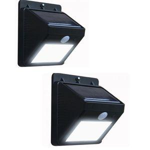 Rubian Pack of 2 - Solar Motion Sensor Outdoor LED Lights