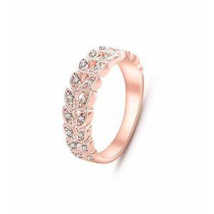 Crystal Wedding Rose Gold Cubic Zirconia Trendy Alloy Ring