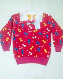 Winter Collection Velvet Sweaters for Girls-Dark Pink