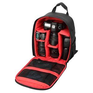 DL-B027 Portable Waterproof Scratch-proof Outdoor Sports Backpack SLR Camera Bag Phone Bag for GoPro, SJCAM, Nikon, Canon, Xiaomi Xiaoyi YI, iPad, Apple, Samsung, Huawei, Size: 27.5 * 12.5 * 34 cm(Red)