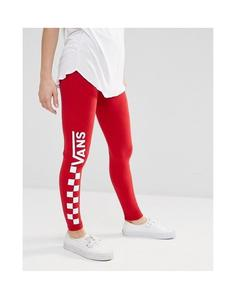 Red Stretchable Printed Tights Cotton Jersey For Women