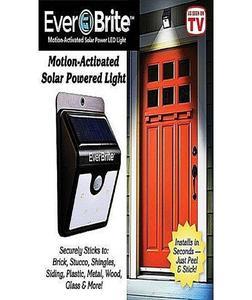 Everbrite Solar Lights, 12Led Waterproof Solar Motion Sensor Lights Solar Powered Motion Detector Lights For Garden, Fence, Patio, Drivewa