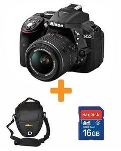 Nikon D5300 - DSLR Camera With 16GB Card Bag - Black