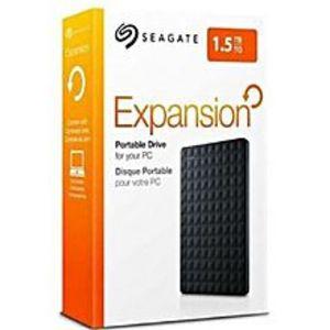 SeagateSTEA1500400 -  Expansion Portable USB 3.0 External Hard Drive - 1.5TB - Black