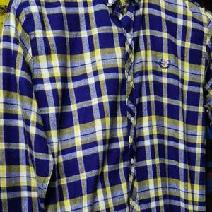 Casual Shirt - blue and yellow checked - Winter collection