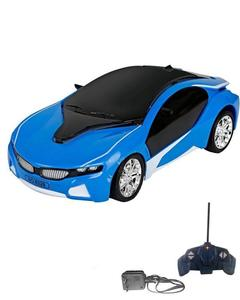 3D Famous RC Car with Led lights - Rechargeable - Blue